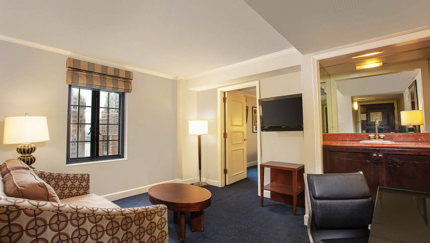 New York City Hotel Living Room Photos | Westgate New York Grand Central Hotel | Midtown Manhattan Images