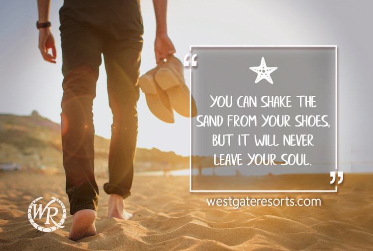 You Can Shake the Sand From Your Shoes, But it Will Never Leave Your Soul | Motivational Travel Quotes