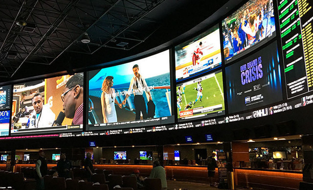 Superbook Bar at our Las Vegas Hotel and Casino | Large Screens at SuperBook