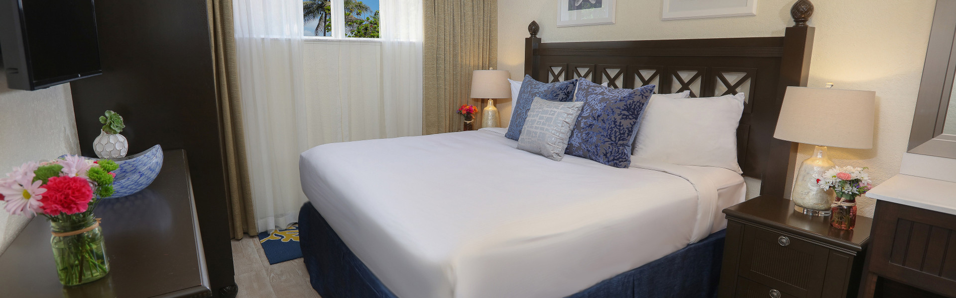 Hotel Room Blocks For Beach Weddings In Florida In Cocoa Beach | Luxury Two-Bedroom Suite