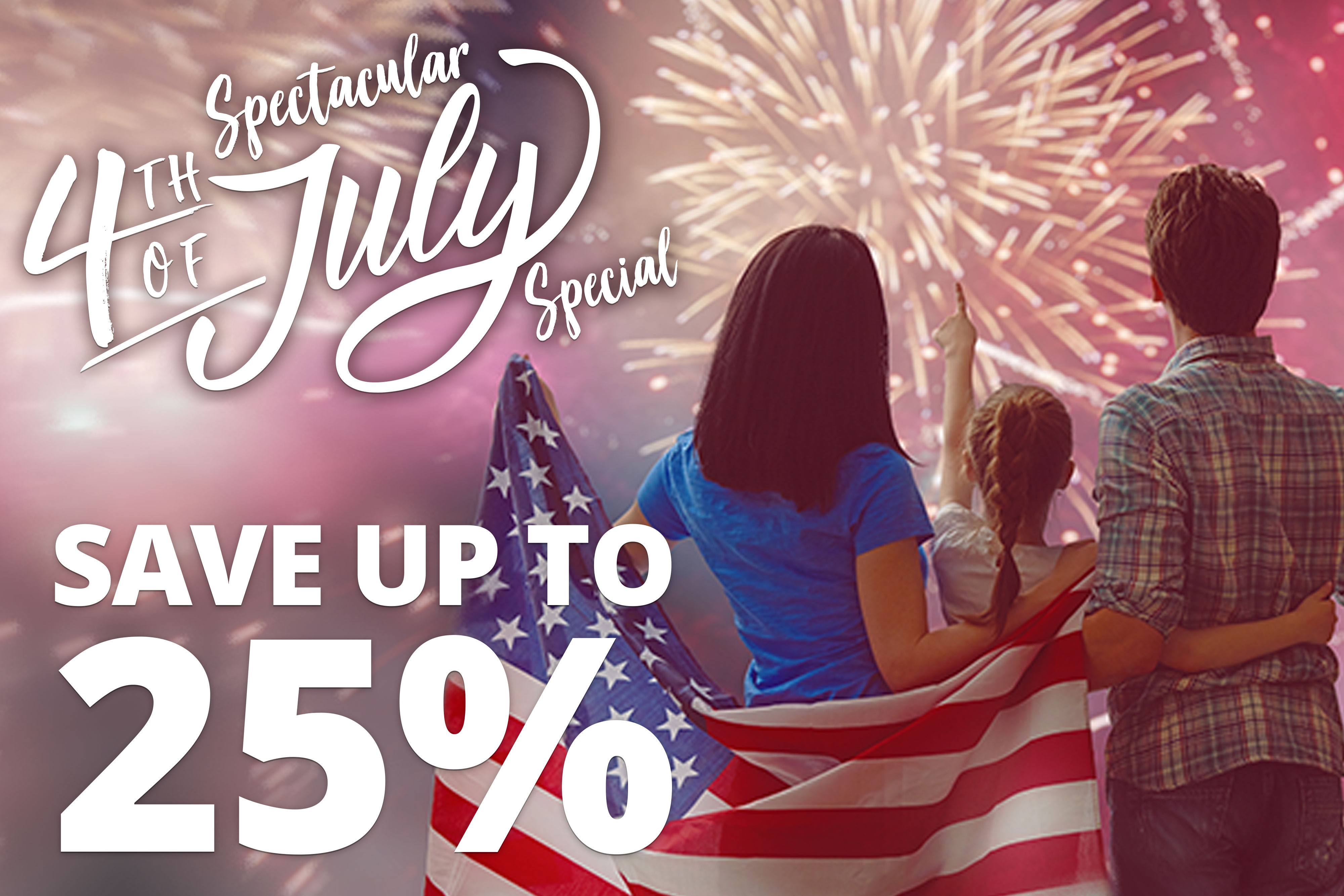 Spectacular Fourth of July Special – Save up to 25% when you stay at Westgate Resorts!