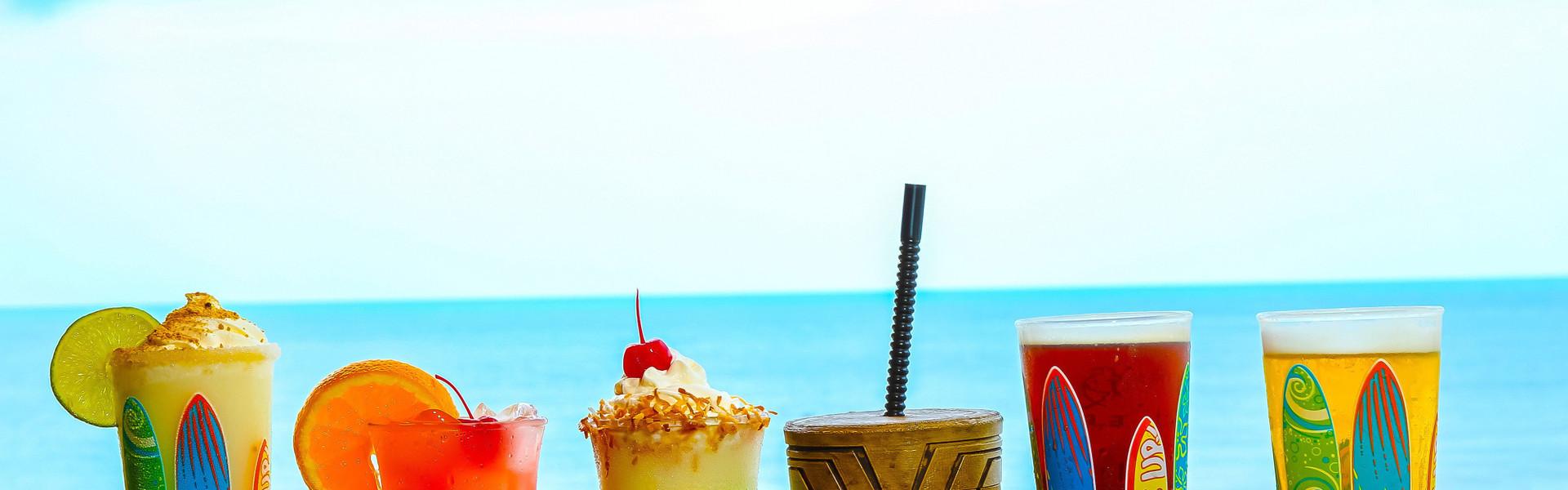 Restaurant on the Beach at our Cocoa Beach Hotel near Westgate Cocoa Beach Pier   Drinks on the Beach