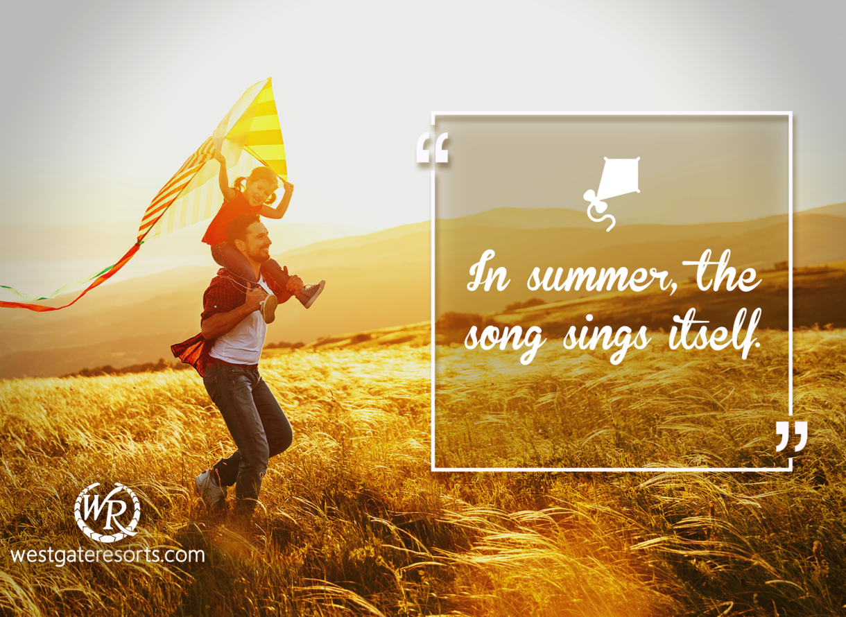 In summer, the song sings itself | Travel Motivation Quotes ...