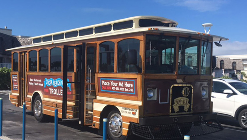 Trolley at Westgate Cocoa Beach Resort
