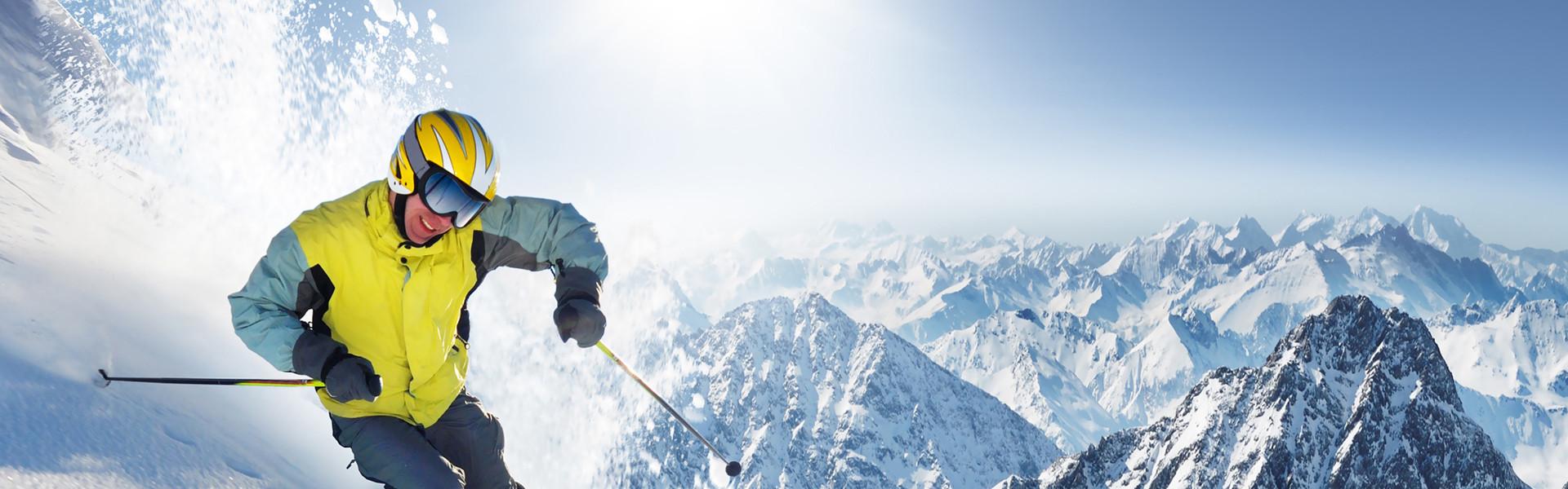Snow Skiing at our Park City, Utah Hotel and Ski Resort | Skiing Down White-Powder Slope