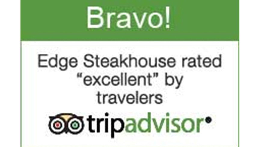 Tripadvisor Bravo! Award For Edge Steakhouse