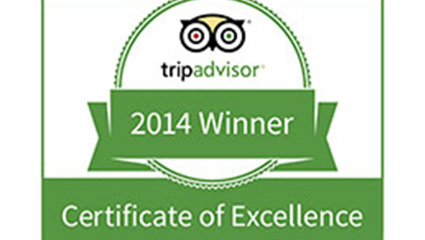Tripadvisor Certificate of Excellence Award