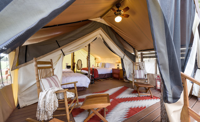 Florida Dude Ranch Resort near Orlando | Inside Glamping Tent