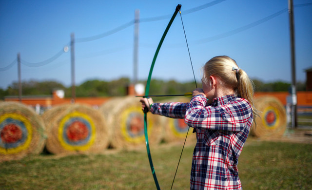 Florida Dude Ranch Resort near Orlando | Girl Practicing Archery