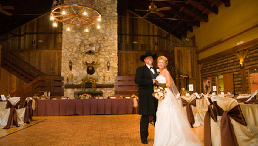 Dude Ranch in Florida | Wedding Reception in Grand Hall