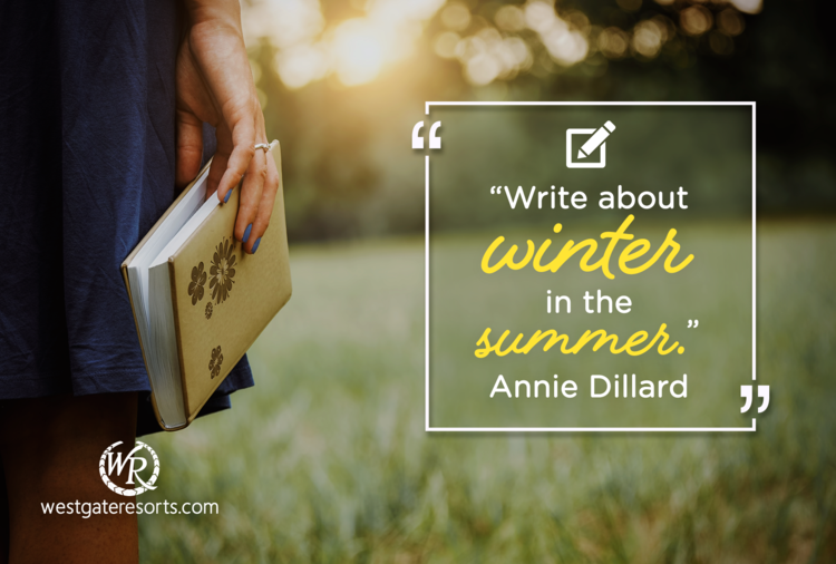 Write About Winter in the Summer | Annie Dillard | Motivational Travel Quotes