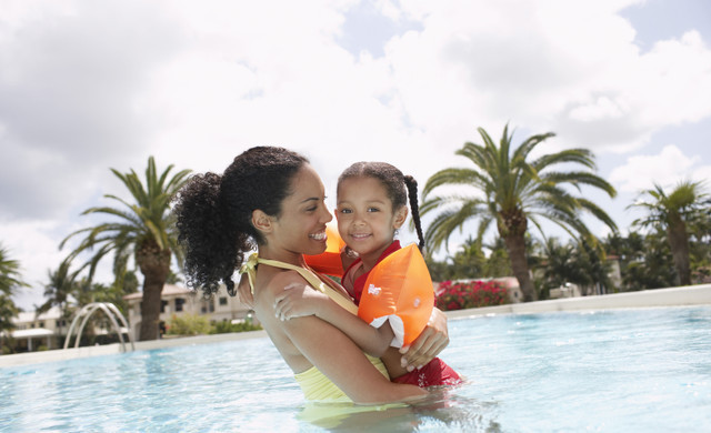 In the pool at our Orlando spa resorts | Best Spa in Orlando, FL | Serenity Spa Orlando at Westgate Lakes Resort & Spa