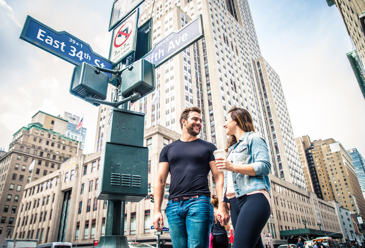 NYC Couple Crossing Street