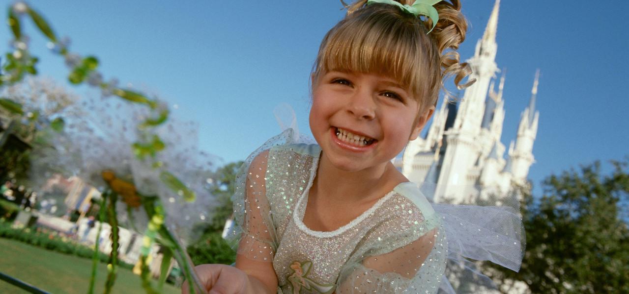 Little girl outside of Disney castle - Westgate Town Center