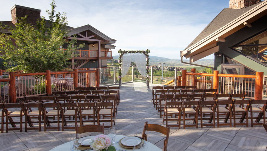 Park City, Utah Hotel and Ski Resort located near Park City Mountain | Outside Wedding Area