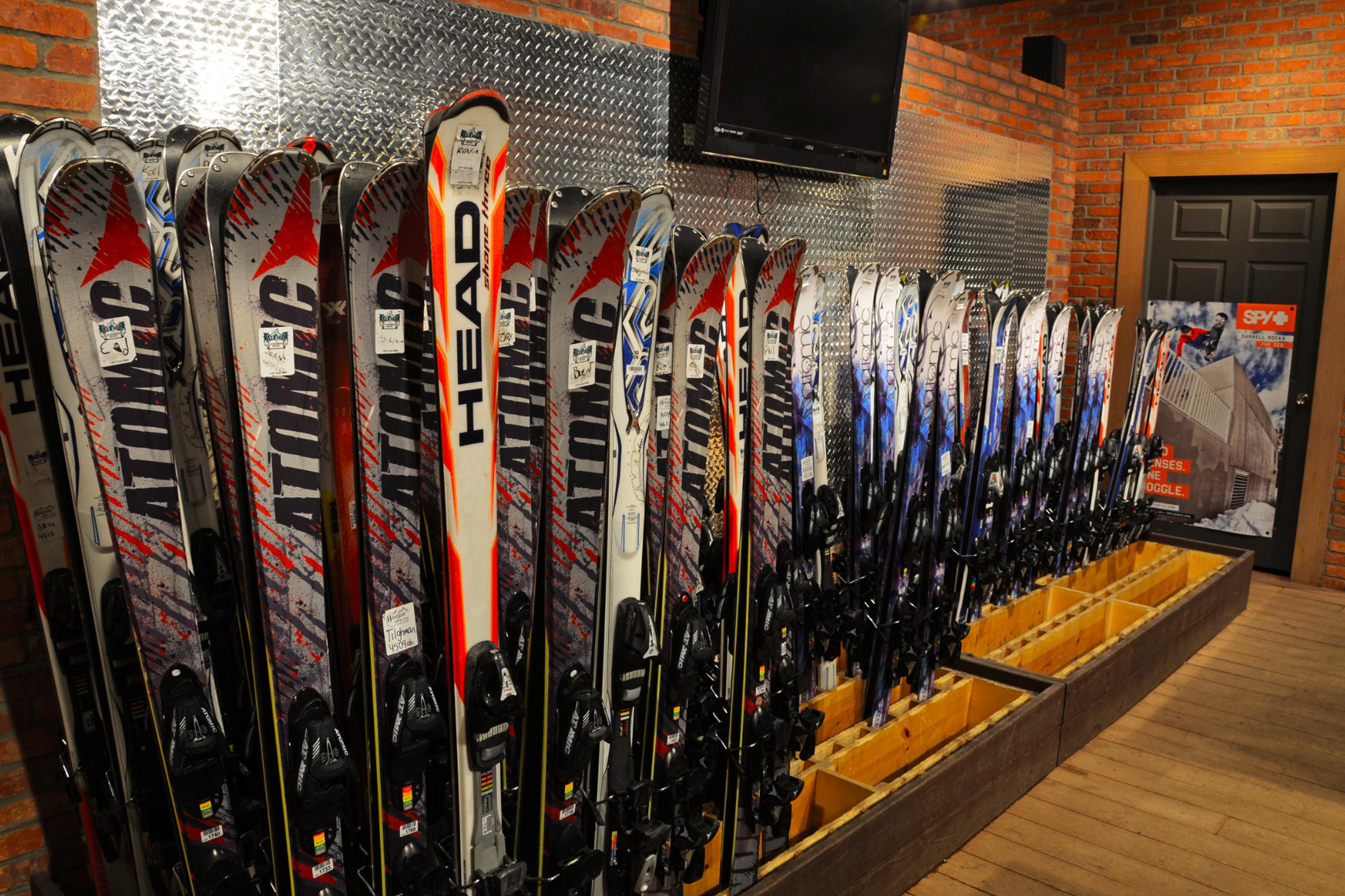 Skis on display at store - Westgate Park City Resort