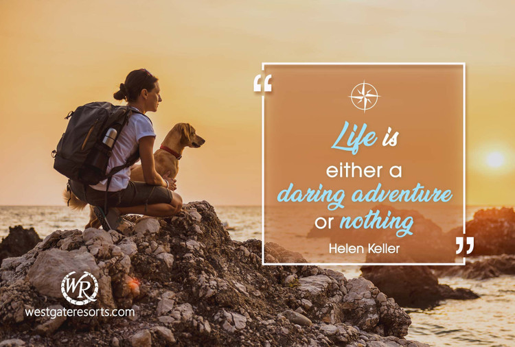 Life is Either a Daring Adventure or Nothing | Helen Keller | Motivational Travel Quotes