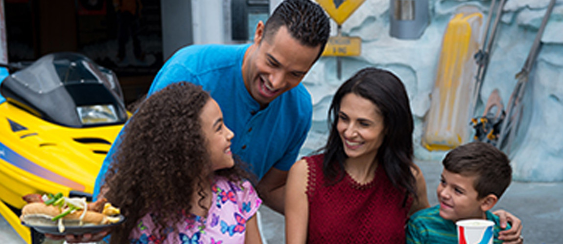 Family dining at Expedition Cafe at SeaWorld Orlando