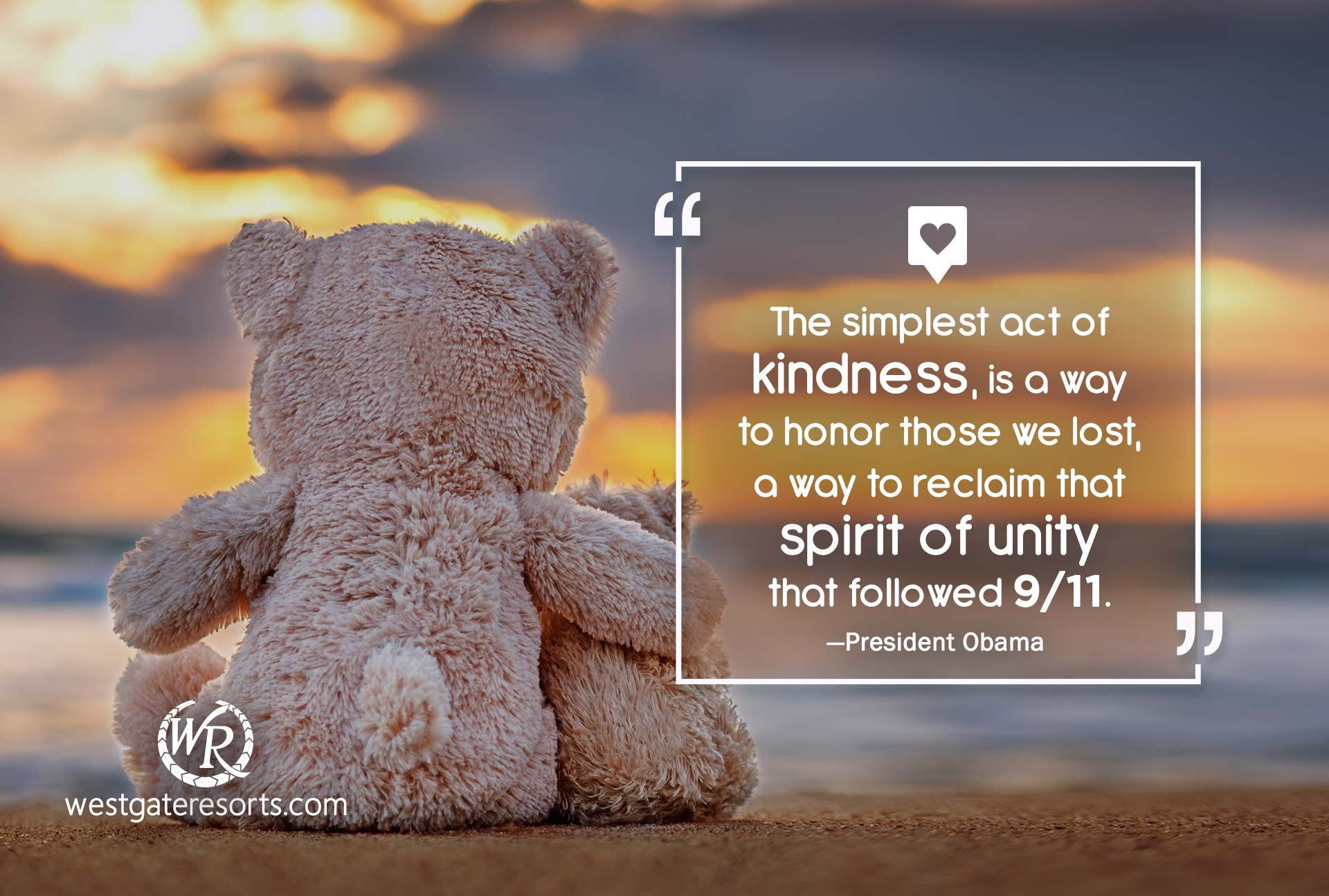 The simplest act of kindness, is a way to honor those we lost, a way to reclaim that spirit of unity that followed 9/11 | Patriotic Quotes