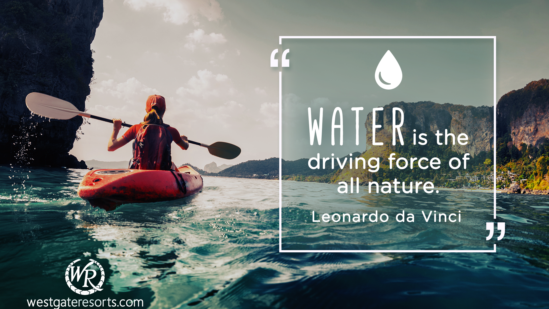 Water is the Driving Force of All Nature | Leonardo da Vinci | Motivational Travel Quotes