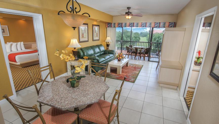 Living Room in Two Bedroom Villa | Westgate Towers Resort