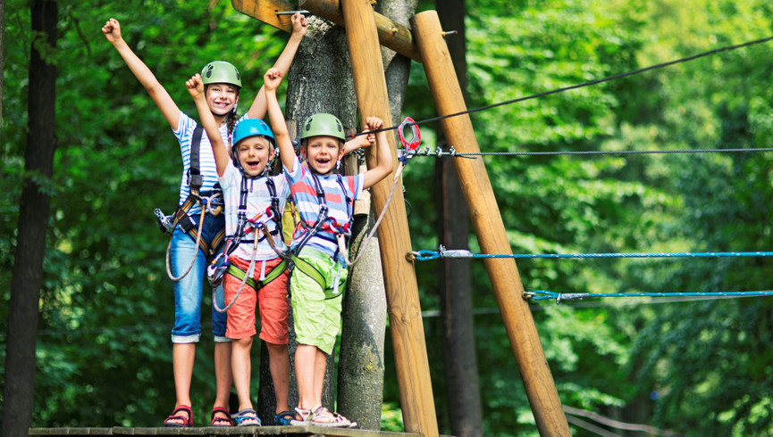 Ziplining in Gatlinburg near the Smoky Mountains | Happy Children