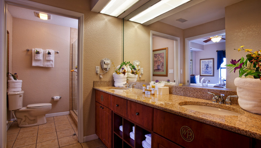 Bathroom in Suite Photos of Orlando Florida Resorts | Westgate Palace Orlando | Hotels Near International Drive, Orlando, FL 32819