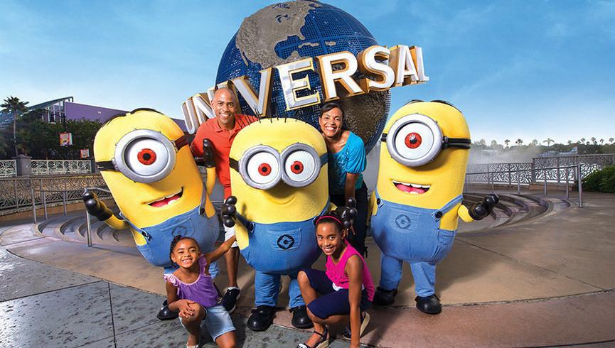 Family Having Fun Near our hotel in Orlando Florida   Hotels Near I Drive Orlando, FL   Westgate Palace Resort Near 32819