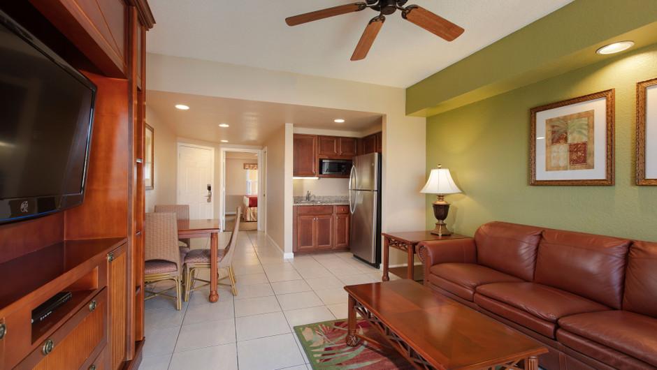 Living Area in our Deluxe Studio Villa - Westgate Town Center Resort