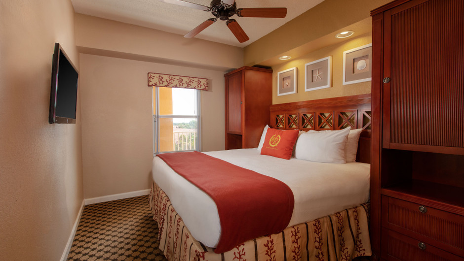 Bedroom in our Deluxe Studio Villa - Westgate Town Center Resort