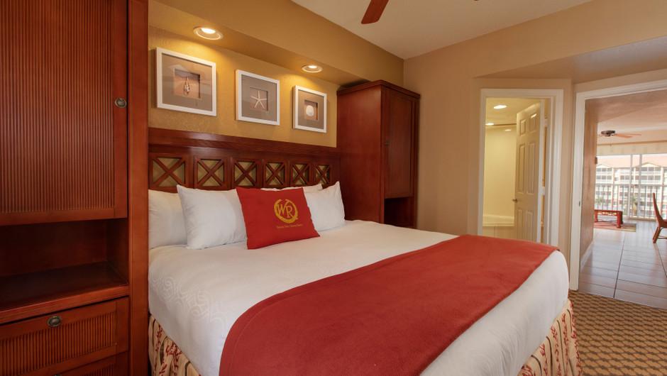 Bedroom in our Deluxe Studio Villa - Westgate Town Center Resort