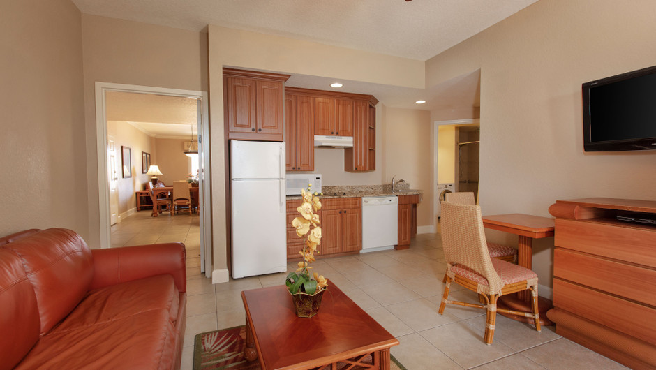 Kitchen/Dining Area in our Two Bedroom Grand Villa - Westgate Town Center Resort