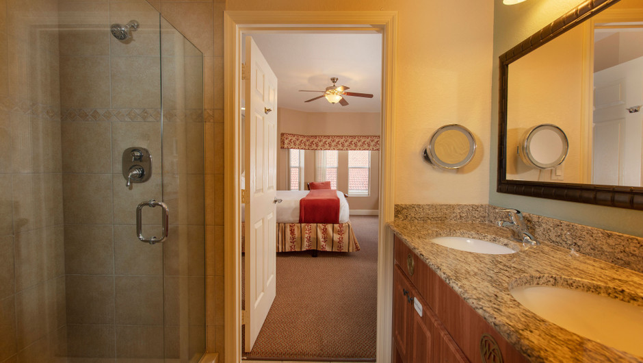 Bathroom in our Two Bedroom Villa - Westgate Town Center Resort