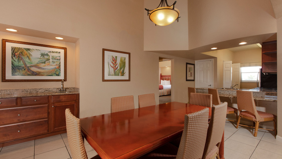 Dining Area in our Two Bedroom Deluxe Villa - Westgate Town Center Resort