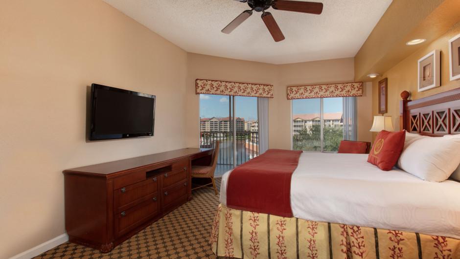 Bedroom in our Two Bedroom Deluxe Villa - Westgate Town Center Resort