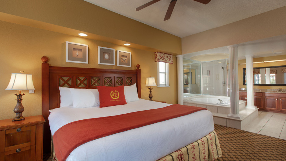 Bedroom in our Three Bedroom Villa - Westgate Town Center Resort