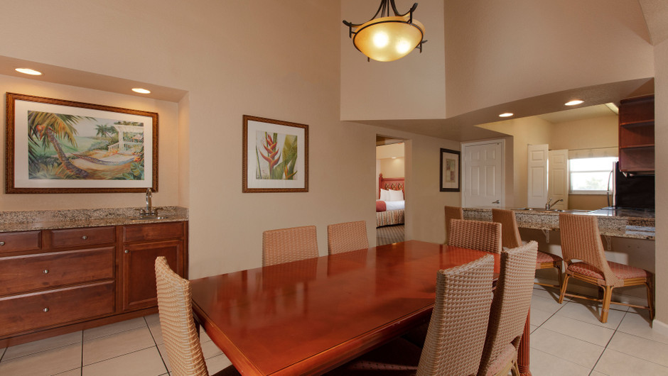 Dining Area in our Four Bedroom Deluxe Villa - Westgate Town Center Resort