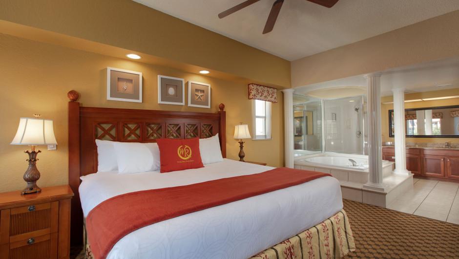 Bedroom/Bathroom in our Four Bedroom Deluxe Villa - Westgate Town Center Resort
