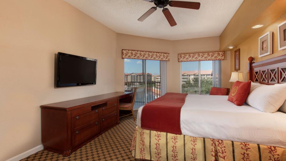 Bedroom in our Four Bedroom Deluxe Villa - Westgate Town Center Resort