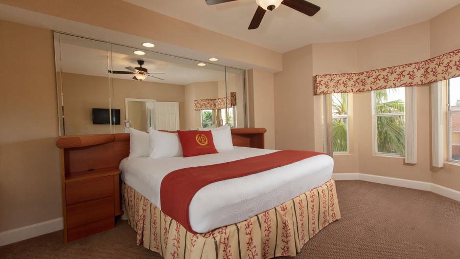 Bedroom in our One Bedroom Deluxe Villa - Westgate Town Center Resort