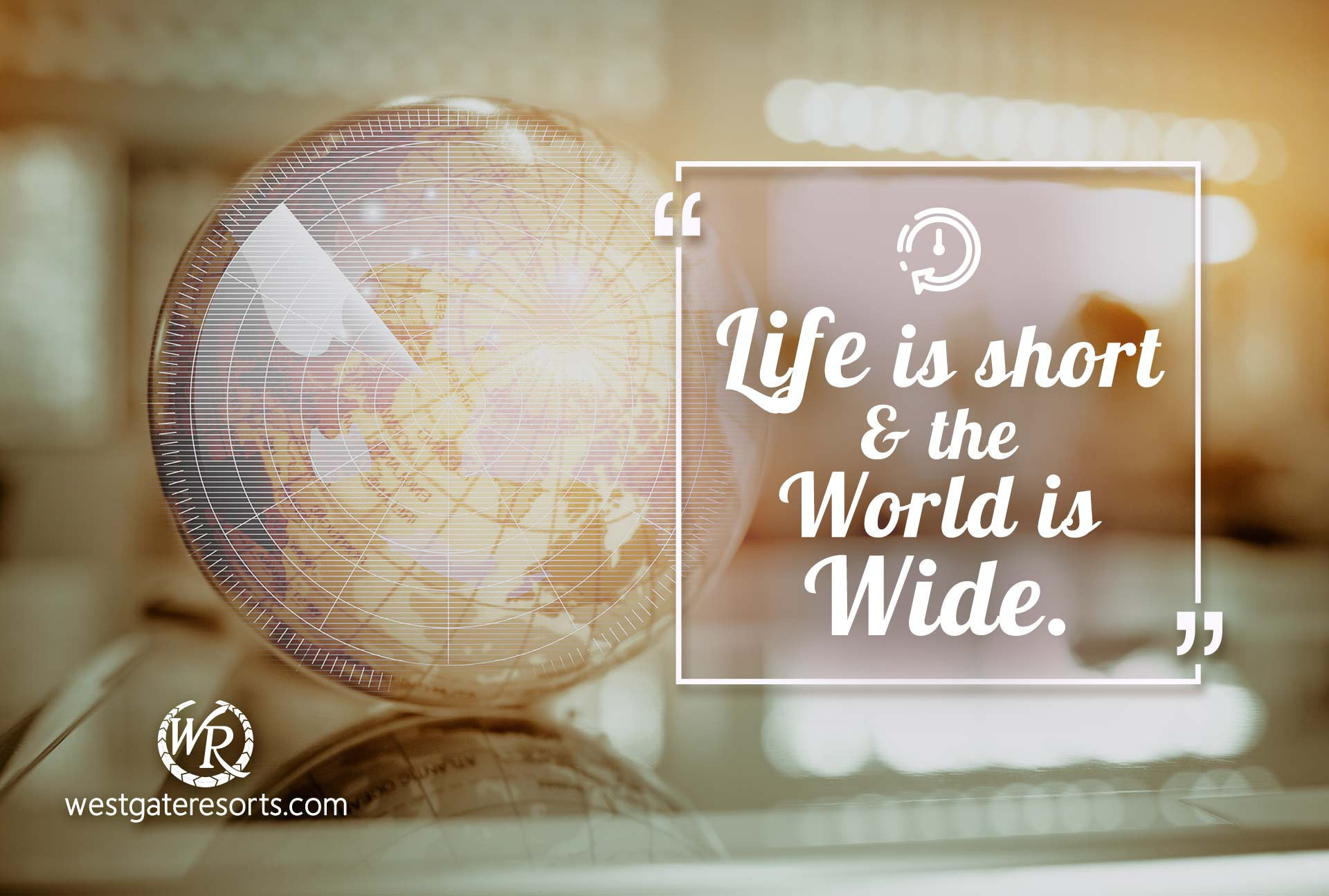 Life is Short and The World is Wide | Quote by Simon Raven | Travel Motivational Quotes