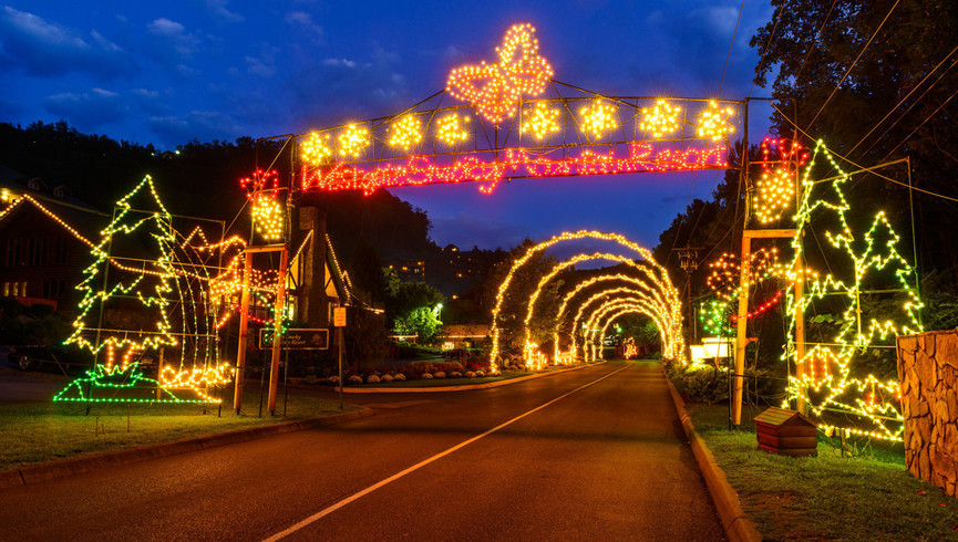 Gatlinburg Resort near the Smoky Mountains | Christmas Lights