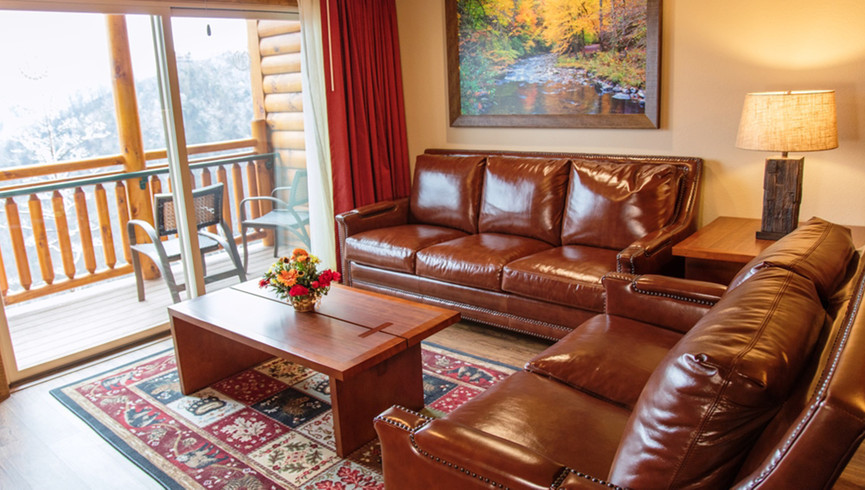 Gatlinburg Resort near the Smoky Mountains | Living Area