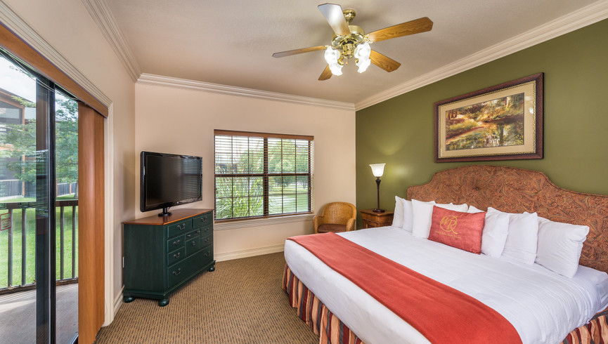 King Bedroom with Terrace | Westgate Branson Woods Resort