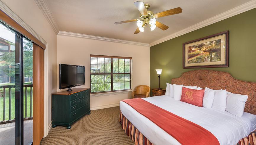 Bedroom in the One-Bedroom Deluxe Villa | Westgate Branson Woods Resort