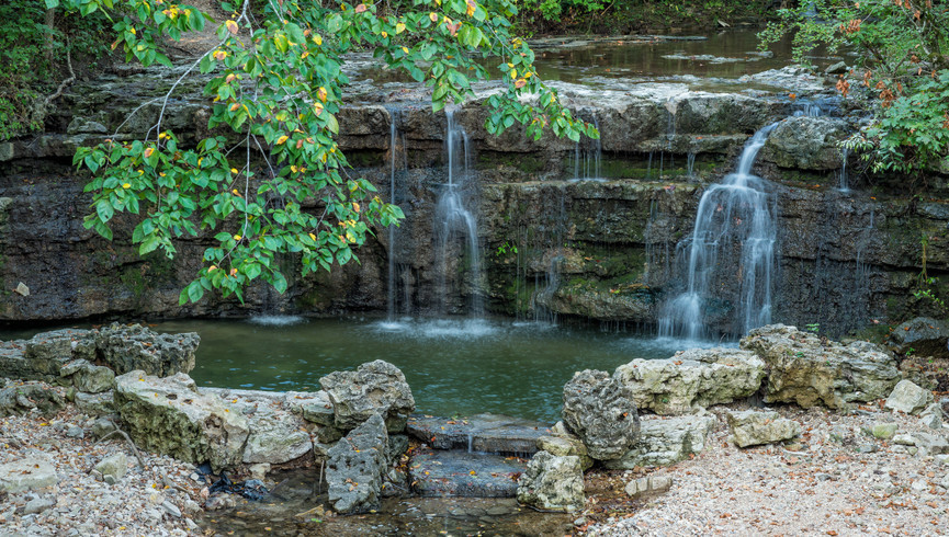 Serene Beautiful Waterfalls Near Westgate Branson Woods Resort
