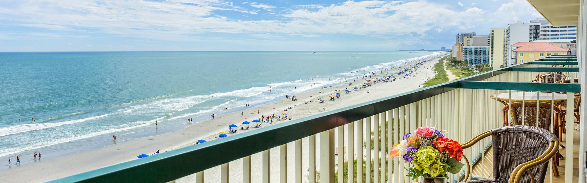 2 Bedroom Oceanfront Suite at our Myrtle Beach Hotel | Oceanfront Balcony