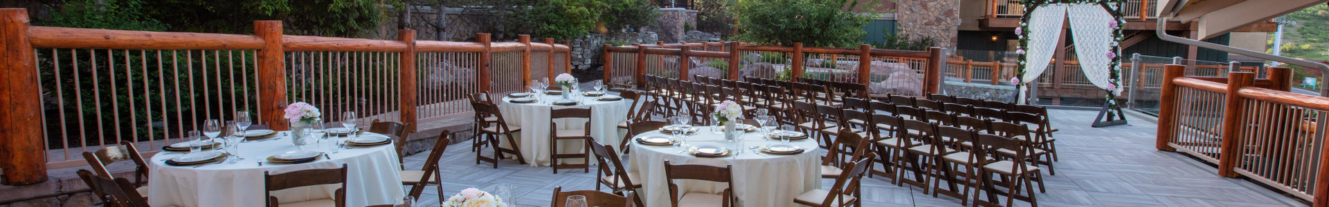 Park City Meeting Space For Weddings and Groups at our Utah Hotel and Ski Resort | Outdoor Wedding Space