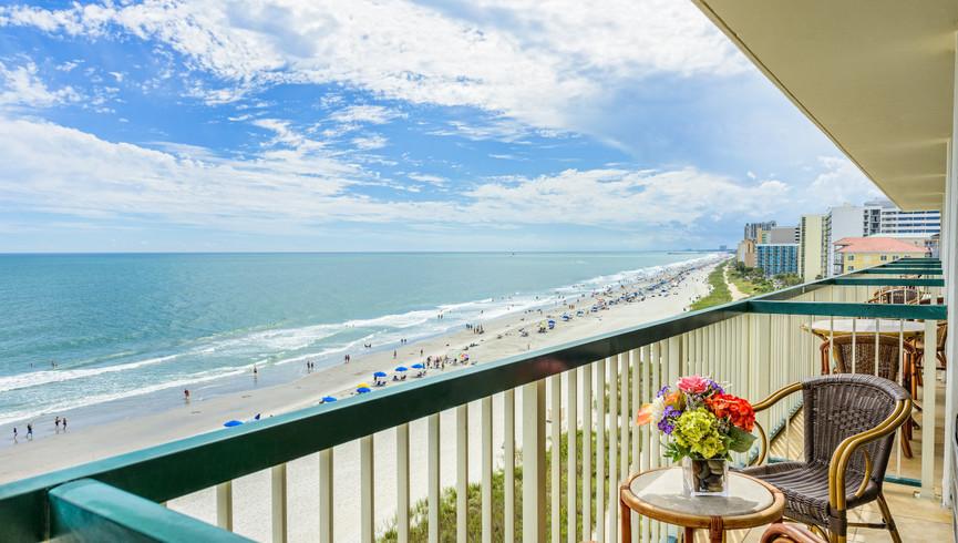 Ocean View From Westgate Myrtle Beach Resort Balcony