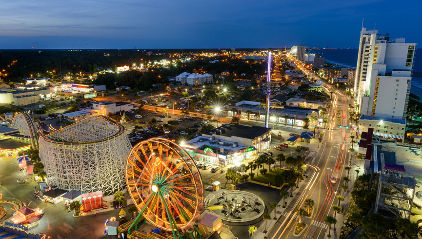 Myrtle Beach Resort and Oceanfront Hotel | View of Family Kingdom Amusement Park